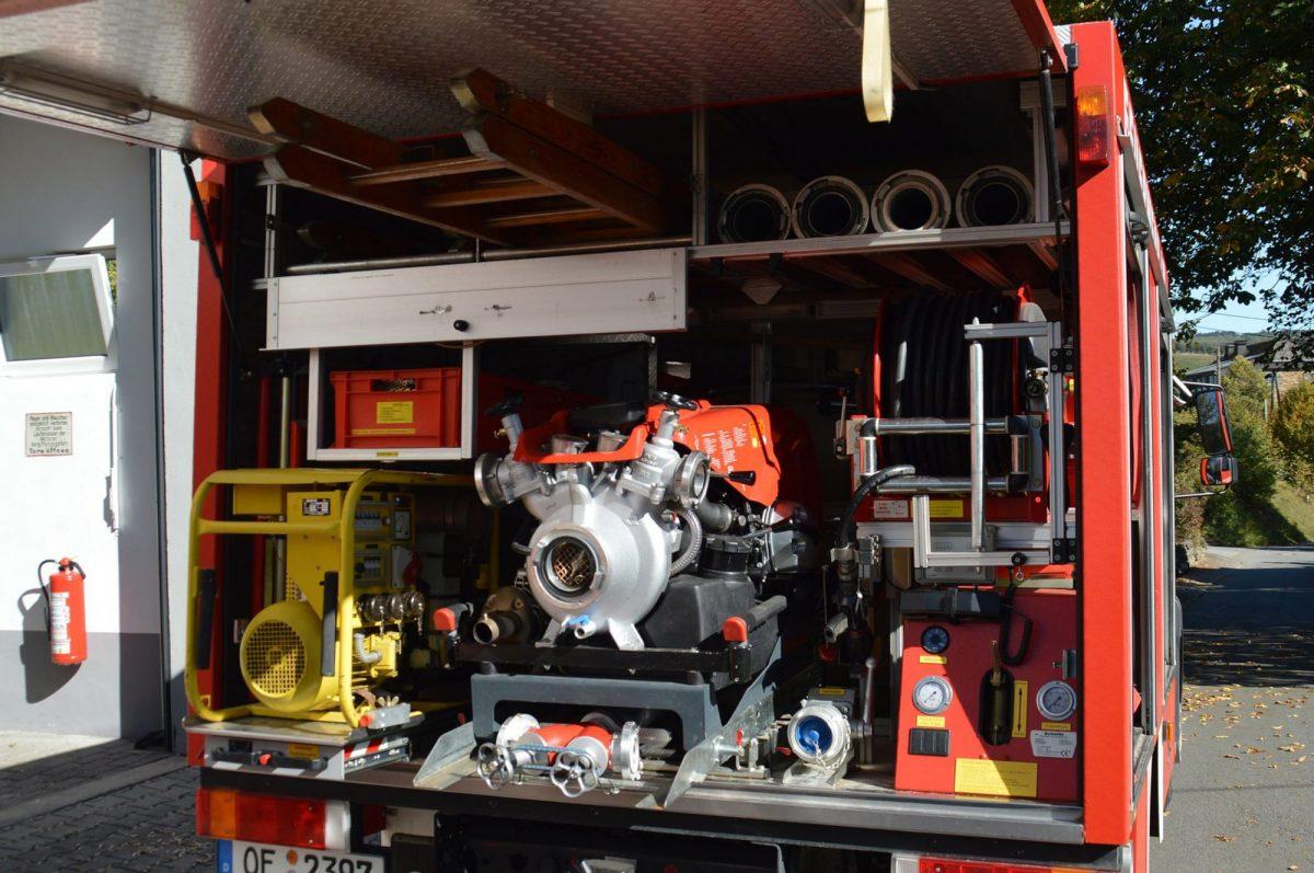 Hochdrucklöscheinrichtung mit 60 Meter Schnellangriff  20bar Strahlrohrausgangsdruck